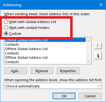 Limit offline exceed address book
